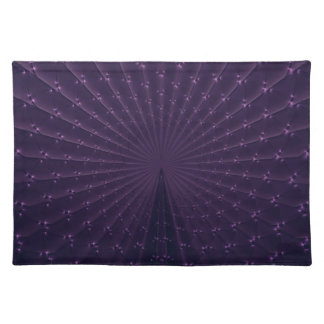 Elegant Dark Purple Fractal Placemat
