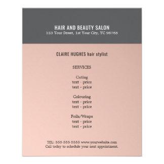 Elegant Dark Rose Grey Beauty Salon Custom Flyer