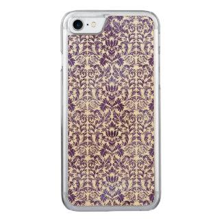 Elegant Dark Royal Purple Damask Batik Carved iPhone 8/7 Case