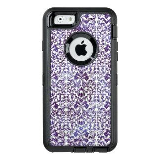 Elegant Dark Royal Purple Damask Batik OtterBox iPhone 6/6s Case