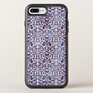 Elegant Dark Royal Purple Damask Batik OtterBox Symmetry iPhone 8 Plus/7 Plus Case