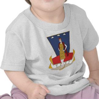 Elegant deco lady t-shirt
