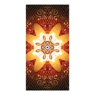 Elegant, decorative kaleidoskop photo card