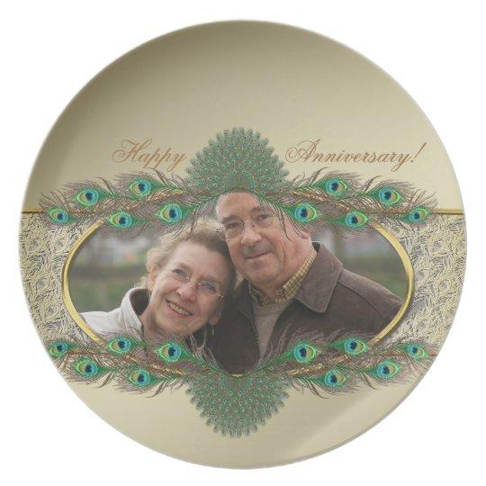 Elegant decorative photo plates for Anniversary