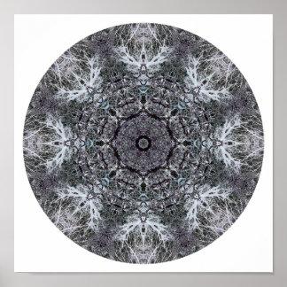 Elegant Decorative Round Pattern Custom Poster