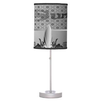 Elegant, decorative surf design table lamp