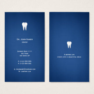 Elegant Dental | Blue Business Card
