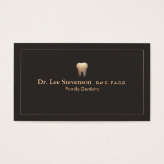 Elegant Dentist Office Appointment  Business Card