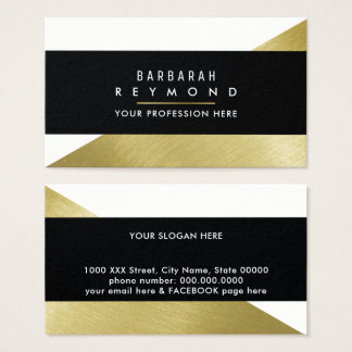 elegant design for a stylish woman, chic business card