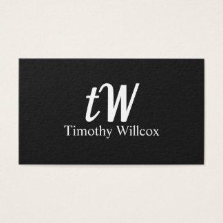 Elegant design Modern Minimalist Black Business Card