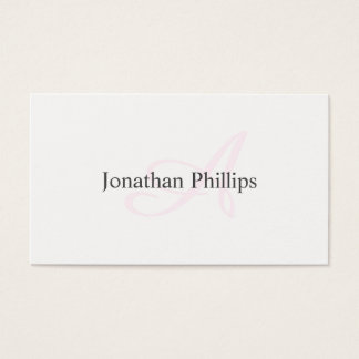 Elegant design Modern Minimalist Rosa Target Business Card