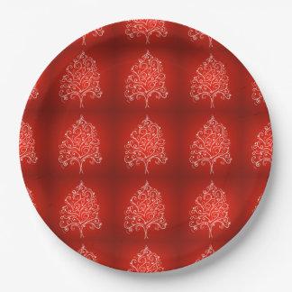 Elegant Designer Christmas Tree Holiday Xmas Paper Plate