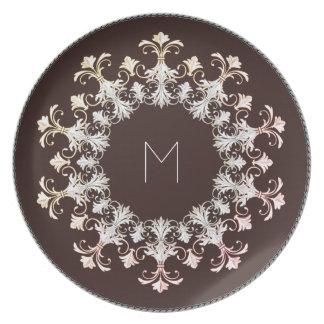 """""""Elegant  Designs"""" TEMPLATE_Dark Cocoa_ Plate"""