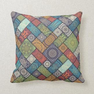 Elegant Diagonal Floral Tiles | Throw Pillow