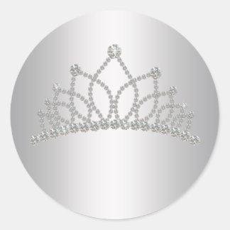 Elegant Diamond Tiara Princess Sticker