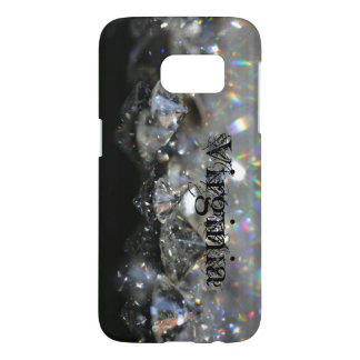 Elegant Diamonds Black and White Shiny Sparkles Samsung Galaxy S7 Case
