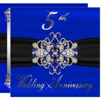 Elegant Diamonds Sapphire 5th Wedding Anniversary Card