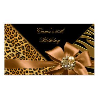 Elegant Directions Party Zebra Leopard Gold Black Pack Of Standard Business Cards