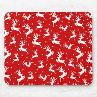 Elegant Ditsy Reindeer Christmas | Mousepad