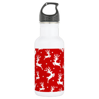 Elegant Ditsy Reindeer Christmas Water Bottle