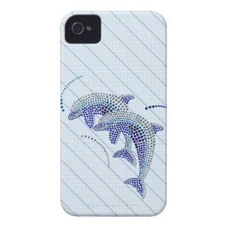 Elegant Dolphin Jewels iPhone 4 Case-Mate Case