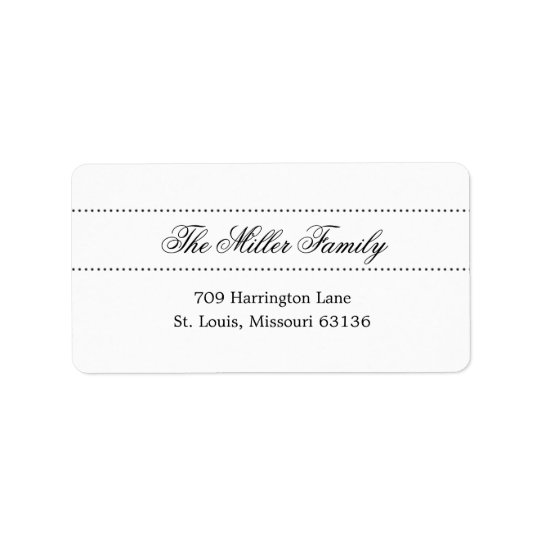Elegant Dots Address Labels