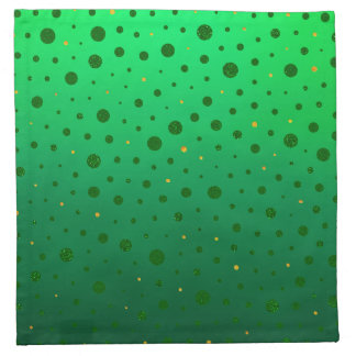 Elegant Dots - Green Gold - St Patrick's Day Napkin