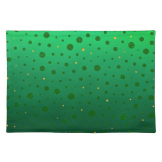 Elegant Dots - Green Gold - St Patrick's Day Placemat