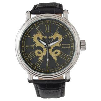 Elegant Dragons Monogram Personalize Watch