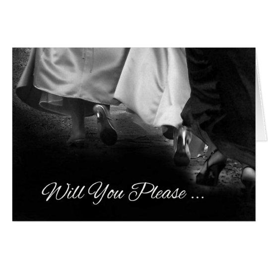 "Elegant Dresses ""Will You Be My Bridesmaid"" Card"