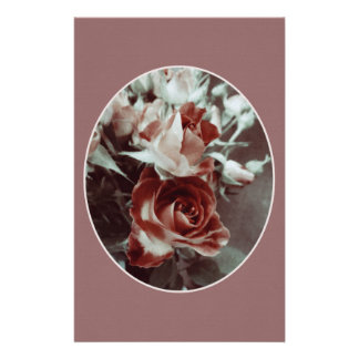 Elegant dusty pink roses formal stationery