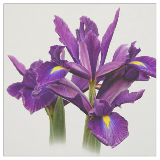 Elegant Dutch Iris Purple Sensation Fabric