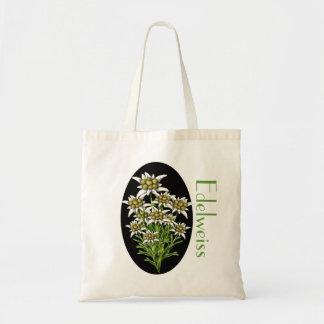 Elegant Edelweiss Floral Custom Tote Bag