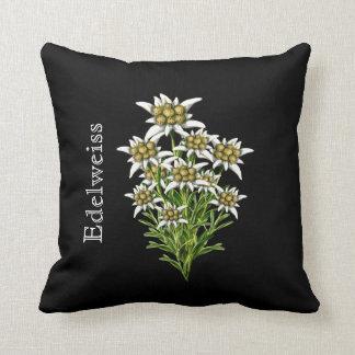 Elegant Edelweiss Floral Pillow