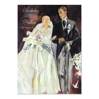 Elegant Edwardian Wedding Card