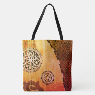 Elegant Egyptian Oud Middle Eastern Lute Tote Bag