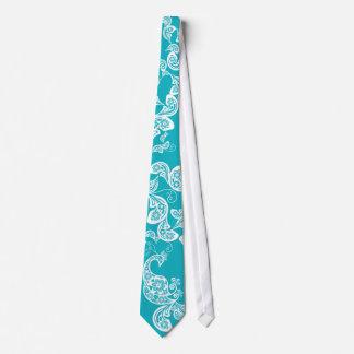 Élégant élégant floral de Paisley de paon de Cravates Personnalisées