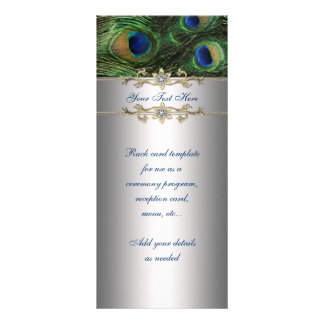 Elegant Emerald Green Peacock Rack Card