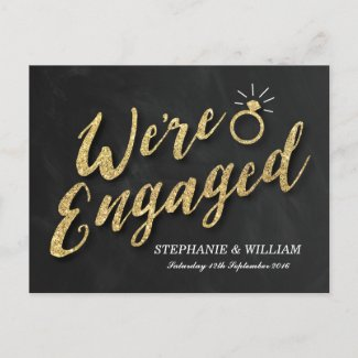 ELEGANT ENGAGEMENT INVITATION | GOLD SPARKLE