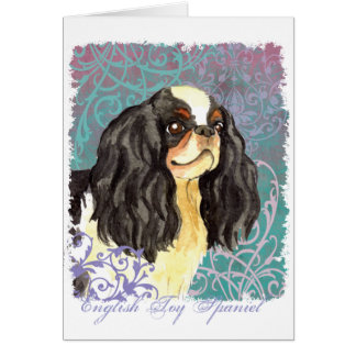 Elegant English Toy Spaniel Card