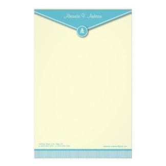Elegant Envelope (tiffany) Monogram Stationery