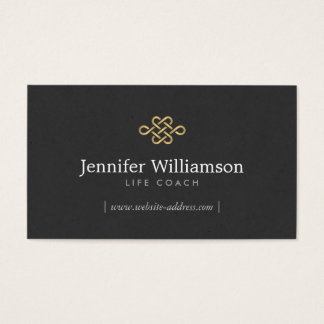 Elegant Eternity Knot, Infinity Knot Gold/Black Business Card
