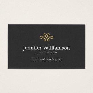 Elegant Eternity Knot, Infinity Knot Gold/Black Business Card