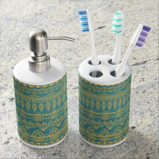 Elegant Ethnic Golden Pattern | Bathroom Set