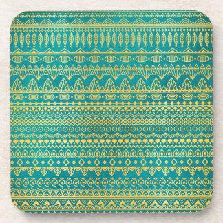 Elegant Ethnic Golden Pattern | Coaster