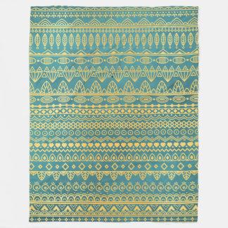 Elegant Ethnic Golden Pattern | Fleece Blanket