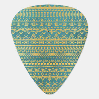 Elegant Ethnic Golden Pattern | Guitar Pick