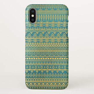 Elegant Ethnic Golden Pattern | iPhone X Case