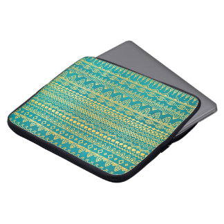Elegant Ethnic Golden Pattern | Laptop Sleeve