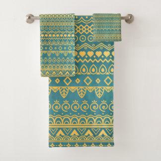 Elegant Ethnic Golden Pattern | Towel Set